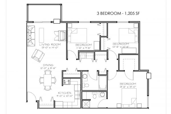 apartment floorplan diagram